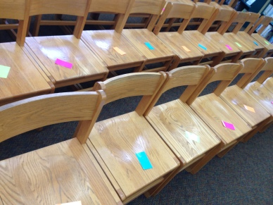 Chairs with Color Coded Cards